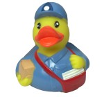 Karlie Vinyl  Duck-Postman Dog Toy 3.5 Inch