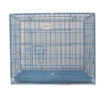 Dog Cage Small - (LxBxH - 23.5x16.5x19.5) Blue