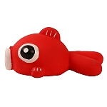 DogSpot Latex Buggle Fish Toy - Red