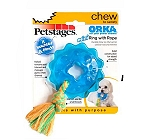 Petstages ORKA Mini Ring With Rope Dog Toy
