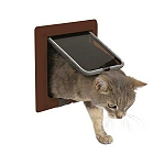 Trixie 4-Way Cat Flap Brown (LxB - 8.2X8.2 Inch)