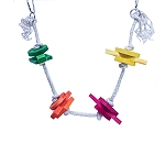 BirdSpot Happy Swing With Colored Block Bird Toy