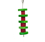 BirdSpot Coloured Craft Wooden Disc Hanging Bird Toy