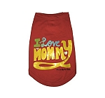 HUFT Dog T-shirt I Love My Mommy - Large