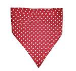 DogSpot Polka Dot Dog Bandana Red - Medium