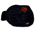 DogSpot Paw Print Velvet Dog Coat Navy Blue - Size 22