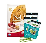 N & D Chicken & Pomegranate Adult Maxi - 12 Kg With Treats