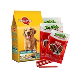 Pedigree Chicken & Rice Young Adult Dog Food  - 1.2 Kg With Treats