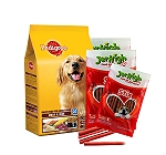 Pedigree Meat & Rice Adult Dog Food  - 10 Kg  With Treats