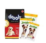 Drools Adult Chicken & Egg Dog Food - 1.2 Kg With Treats