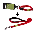 DogSpot Premium Leash and Collar Set Red 10 mm - Small