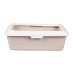 CatSpot Premium Cat Litter Tray With Lid -Moonstone - (LxBxH - 18x15x6 inches)