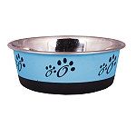 DogSpot Colored Paw Print Dog Bowl Sky Blue - Small