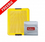 DogSpot Puppy Toilet Tray Yellow With Training Pad