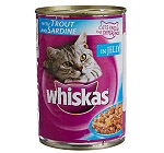 Whiskas Cat Can Food Trout & Sardine Chunks in Jelly 400 gram