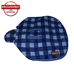 DogSpot Classic Check Dog Coat Blue - Size 16