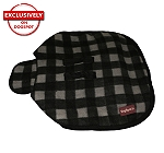 DogSpot Classic Check Dog Coat Grey - Size 16