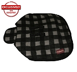 DogSpot Classic Check Dog Coat Grey - Size 24