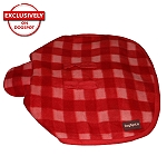 DogSpot Classic Check Dog Coat Red - Size 14