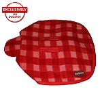 DogSpot Classic Check Dog Coat Red - Size 16