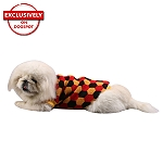 DogSpot Tricolor Hexagon Sweater size - 14
