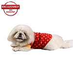 DogSpot Yellow Polka Dots On Red Sweater size - 20