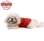 DogSpot Yellow Polka Dots On Red Sweater size - 24
