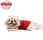 DogSpot Yellow Polka Dots On Red Sweater size - 30