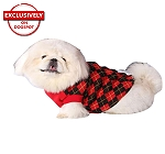 DogSpot Red And Black Argyle Sweater size - 10