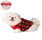 DogSpot Red And Black Argyle Sweater size - 14