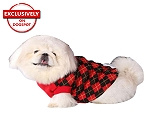 DogSpot Red And Black Argyle Sweater size - 18