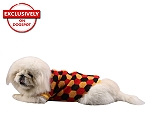 DogSpot Tricolor Hexagon Sweater size - 26