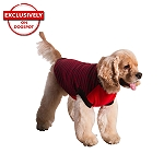 DogSpot Red And Black Stripe Sweater size - 14