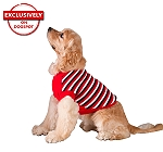 DogSpot White, Red And Navy Stripe Sweater size - 10
