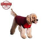 DogSpot Red And Black Stripe Sweater size - 10