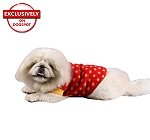 DogSpot Yellow Polka Dots On Red Sweater size - 22