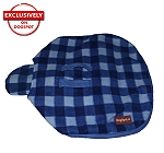 DogSpot Classic Check Dog Coat Blue - Size 28