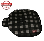 DogSpot Classic Check Dog Coat Grey - Size 22