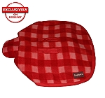 DogSpot Classic Check Dog Coat Red - Size 22