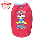 DogSpot Winter Dog T-shirt TalkTo The Paw (Red) Size - 18