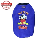 DogSpot Winter Dog T-shirt TalkTo The Paw (Blue) Size - 16