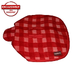 DogSpot Classic Check Dog Coat Red - Size 30