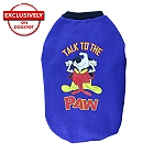 DogSpot Winter Dog T-shirt TalkTo The Paw (Blue) Size - 10