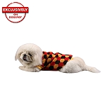 DogSpot Tricolor Hexagon Sweater size - 22