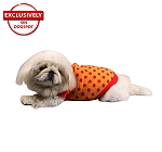DogSpot Red Polka Dots On Yellow Sweater size - 26