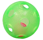 Gnawsome Rattle Ball Green - 4 Inches