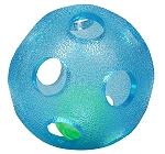 Gnawsome Rattle Ball Blue - 4 Inches