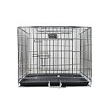 DogSpot Chrome Dog Cage Double Door Medium - (LxWxH -24x17.5x17.5) inch