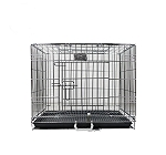 DogSpot Chrome Dog Cage Double Door Large - (LxWxH -30x18x18) inch