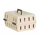Petmate Cabin Kennel Solid Top For Small Dogs And Cats - (LxBxH - 17x12x8 Inch)
